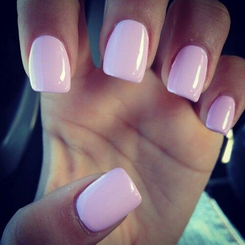 Simple Pink Square Acrylic Nails Solid Color Nails Pink Nails