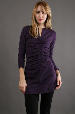 Natalie Sweater in Purple by Shin Choi at CoutureCandy. $207