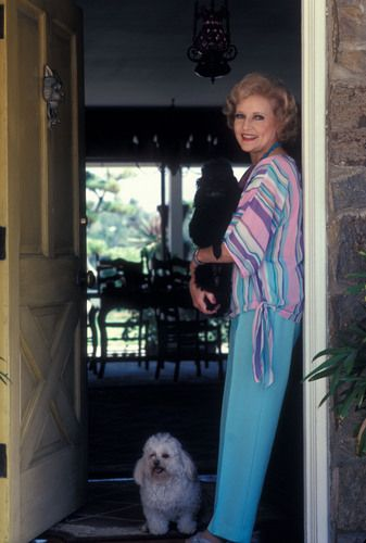 Betty with her dogs.