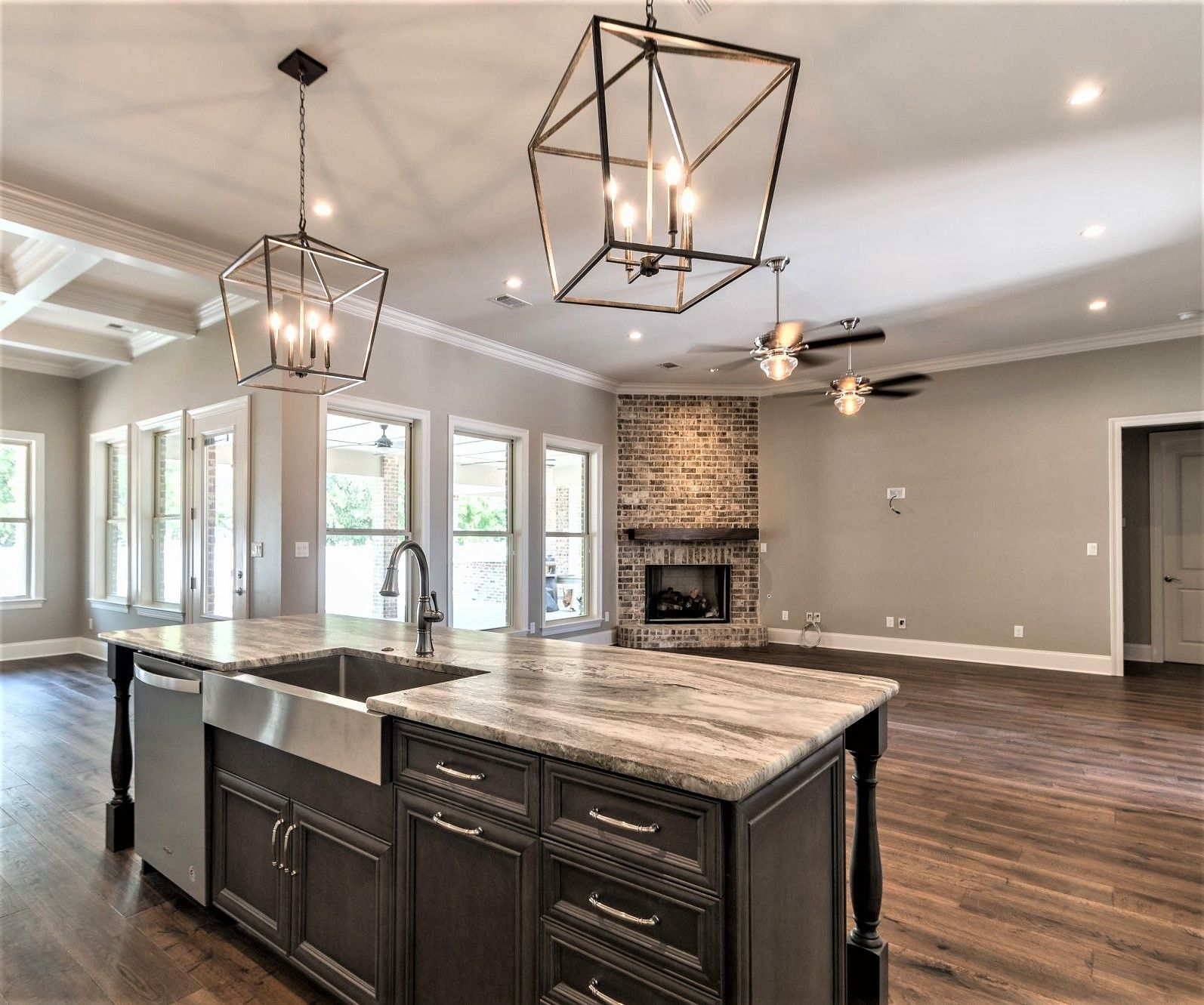 A Gorgeous Open Concept Kitchen With Leathered Cafe Latte Countertops Installed By Stone Interiors New Orl Affordable Countertops Countertops Countertop Prices