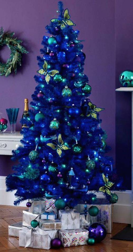 50 ideas para un rbol de navidad en diferentes estilo - Decoracion arbol de navidad blanco ...