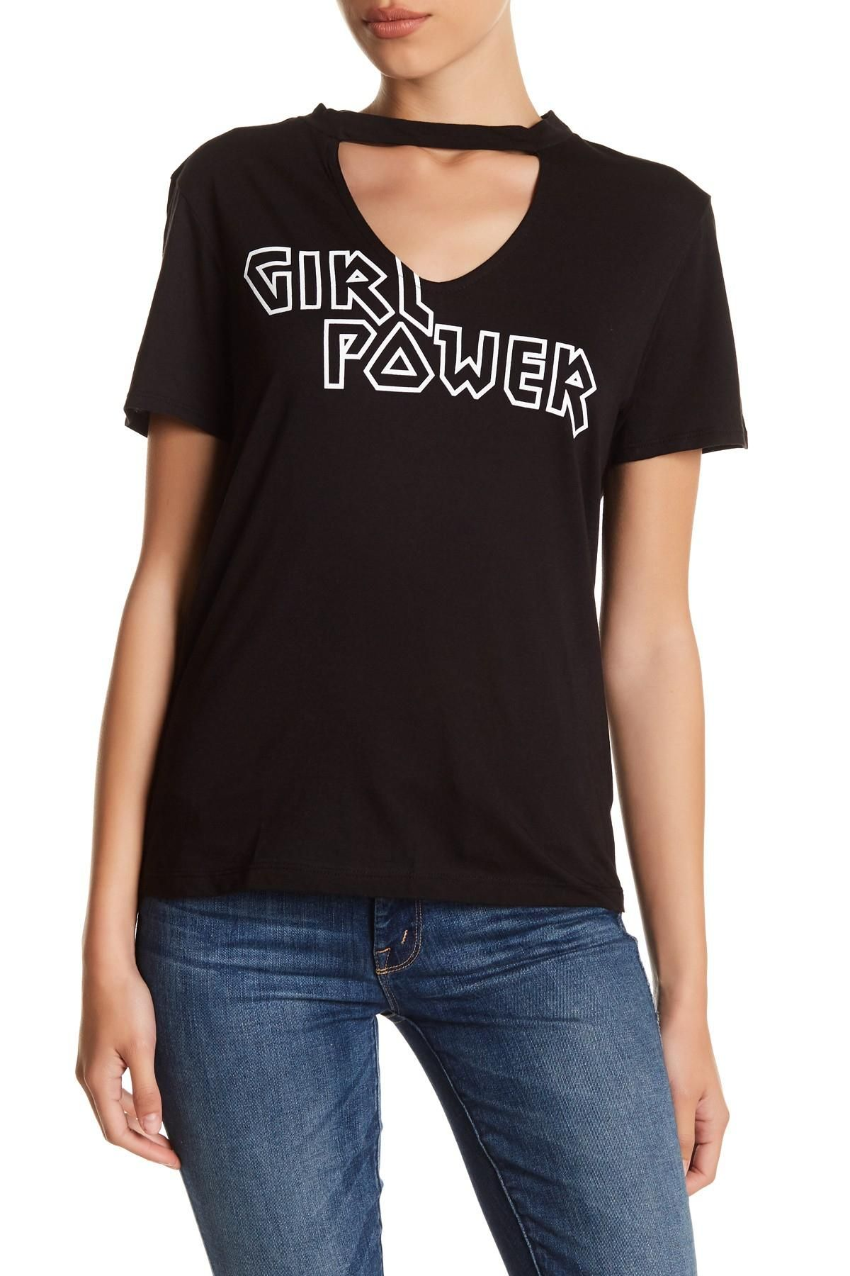 eb8a31aa324fc9 Rebellious One Girl Power Keyhole Tee M T Shirt. Free shipping and  guaranteed authenticity on Rebellious