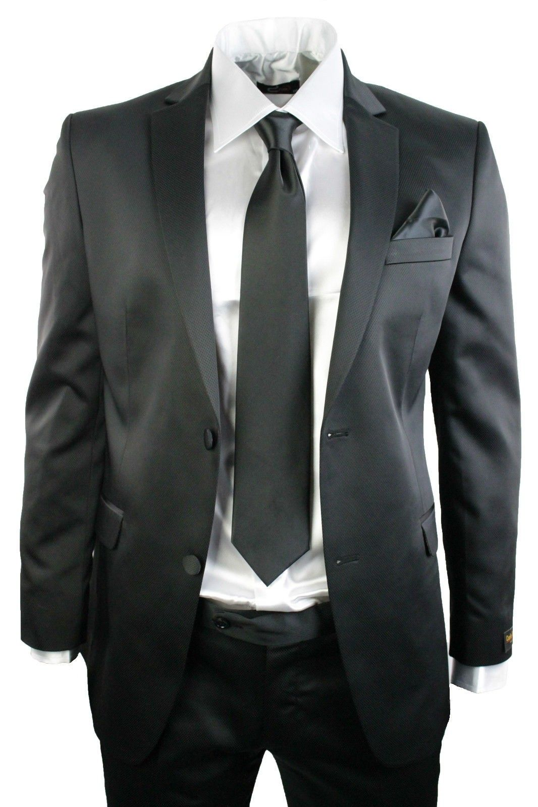 Mens shiny slim fit button suit clothing style suits shopping