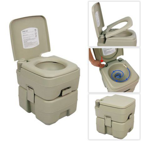 Palm Springs 5 Gallon Plastic Portable Flushing Toilet Camping