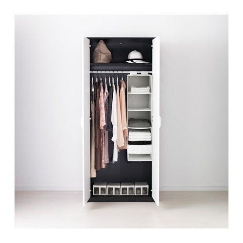 askvoll kledingkast zwartbruin zwart wit breien. Black Bedroom Furniture Sets. Home Design Ideas
