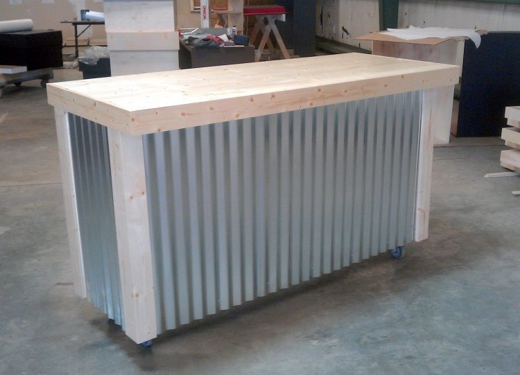 Custom Made Corrugated Metal Bar Backyard Ideas