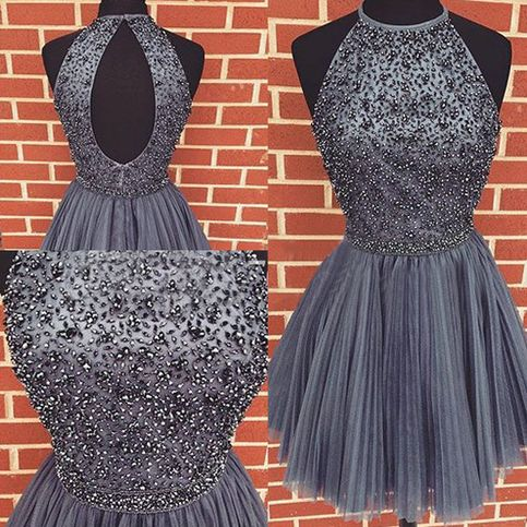 New Arrival Jewel A-line Knee Length Organza Purple Homecoming Dress With  Beading sold by Tidetell. Shop more products from Tidetell on Storenvy b0051091d
