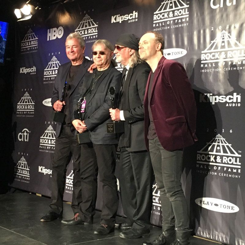 Lars Inducts Deep Purple Into the Rock and Roll Hall of Fame 2016 - Metallica