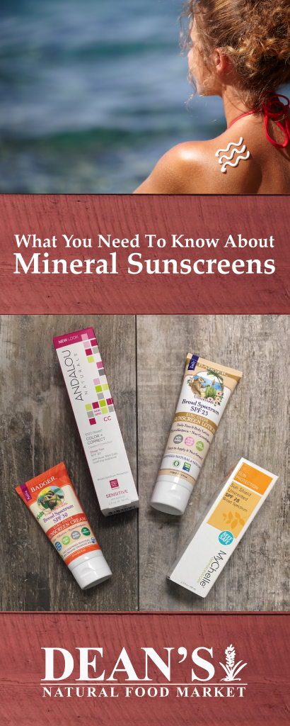Sunscreens with zinc oxide and titanium dioxide are