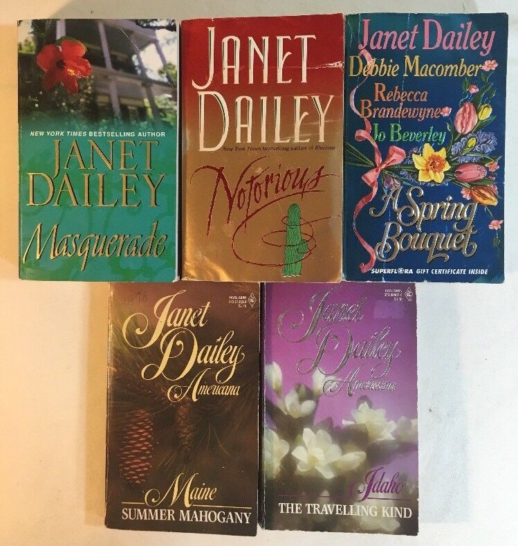 Janet Dailey Book Lot - 8 Novels in 5 Books - Romance