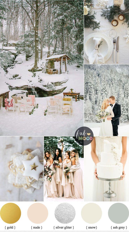 Grey wedding decoration ideas  Magical Winter Wedding Theme  Wedding In Snow u Snow wedding theme