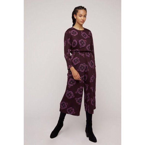 People Tree - Tencel Jumpsuit - Portia Pansy Jumpsuit - Burgundy | Avocadostore#avocadostore #burgundy #jumpsuit #pansy #people #portia #tencel #tree