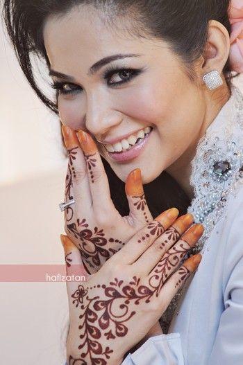Lovelyshafa Gambar Corak Inai Perkahwinan Artis Malaysia