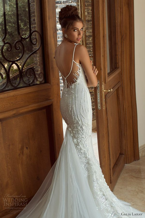 Pearl Back Wedding Dress