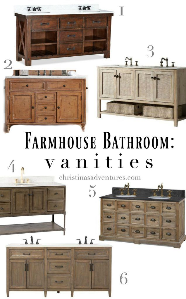 the best places to buy rustic farmhouse bathroom vanities and cabinets for every price point. Black Bedroom Furniture Sets. Home Design Ideas