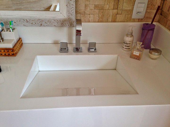 Guia completo de pias e cubas modelos, dicas e preços  Pia esculpida, Cuba  -> Pia De Banheiro Feminino