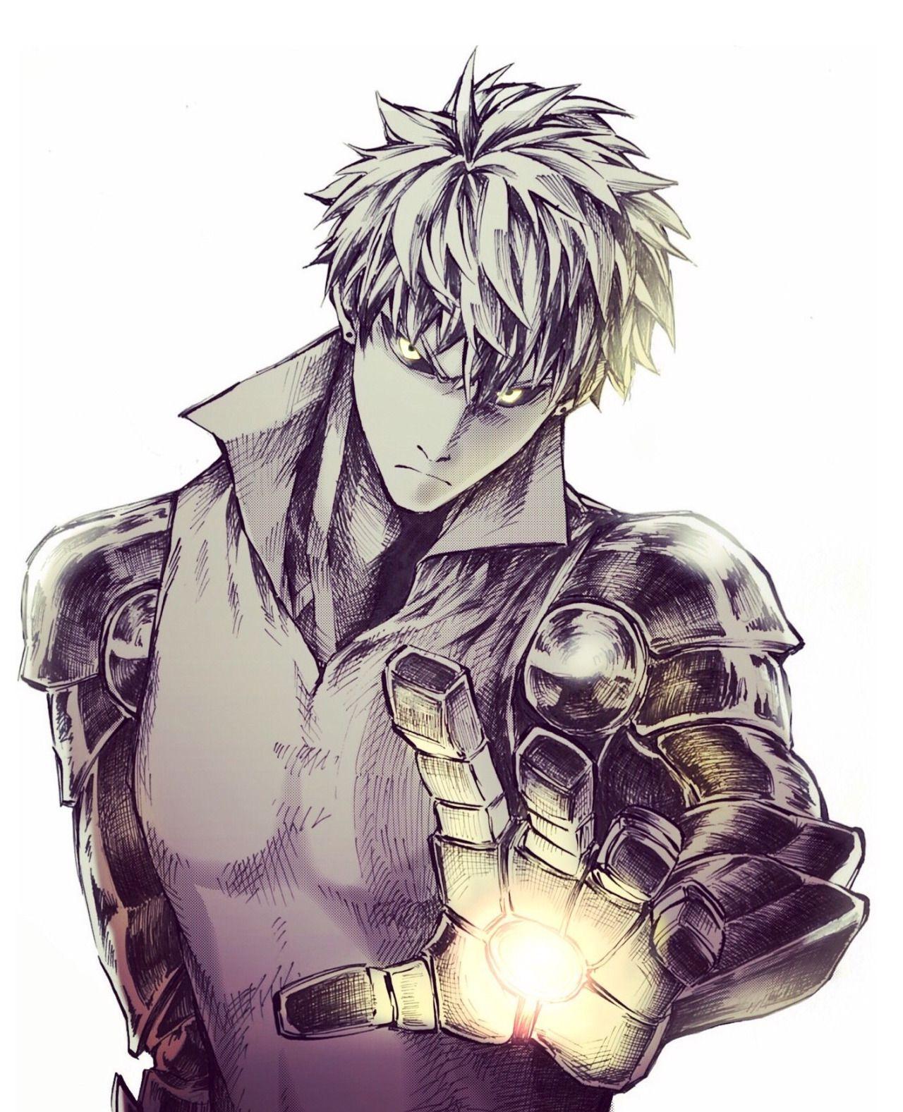 "kanaru17171 "" ジェノス "" One punch man anime, One punch man"