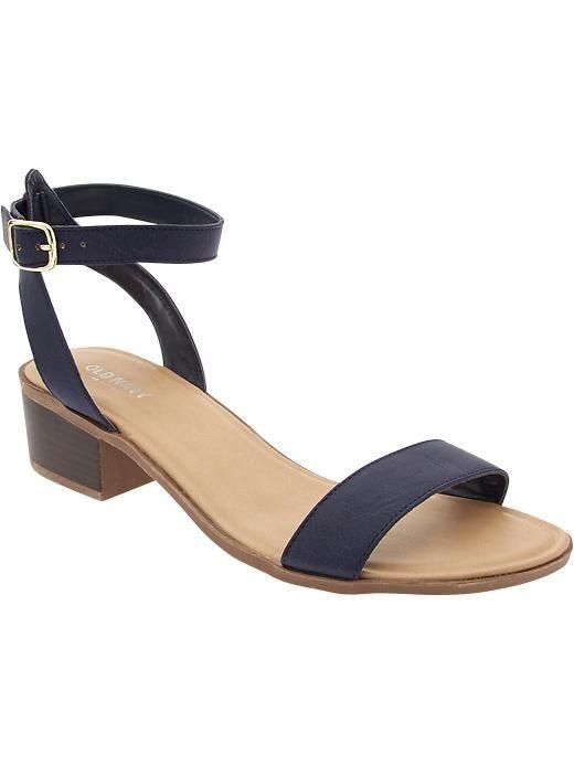 Women\u0026#39;s Block-Heel Sandals (With