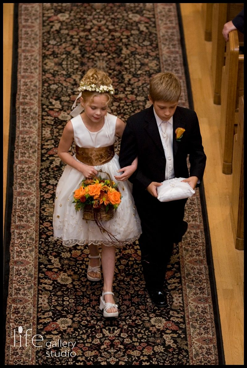 Don't forget these moments from the ceremony! Adorable ring bearer and flower girl!