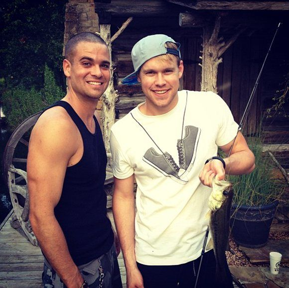 Mark Salling and Chord Overstreet Fishing...LOVE!!!!