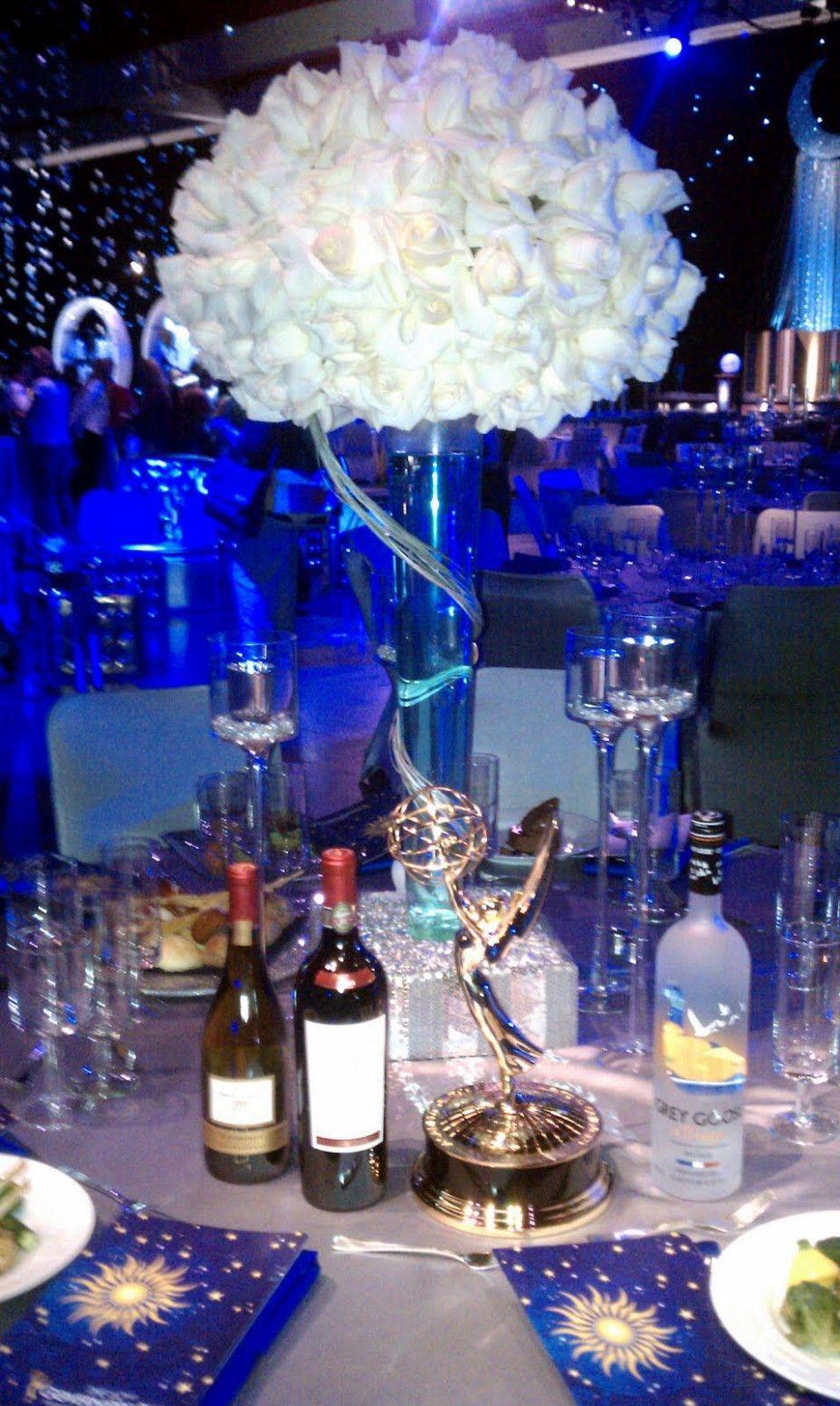 Wedding reception wedding decorations 2018  Starry Night Wedding Reception Tall Centerpiece in   Wedding
