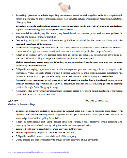 Best Resume Format For Company Secretary (Page 2)