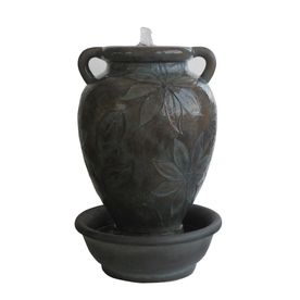 garden treasures 25 39 in resin fountain statue statue on lowes paint sale today id=14650