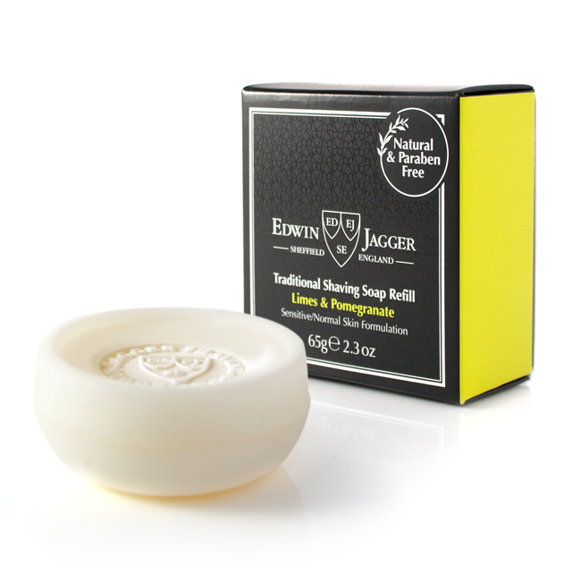 Edwin Jagger Limes and Pomegranate Traditional Shaving Soap Refill