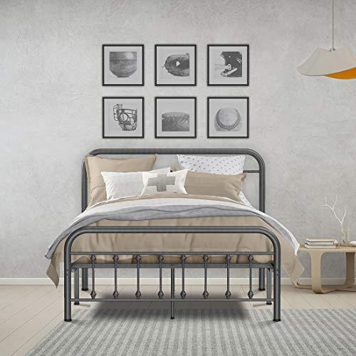 Rinkmo Metal Bed Frame Full Size Vintage Sturdy Platform Bed With