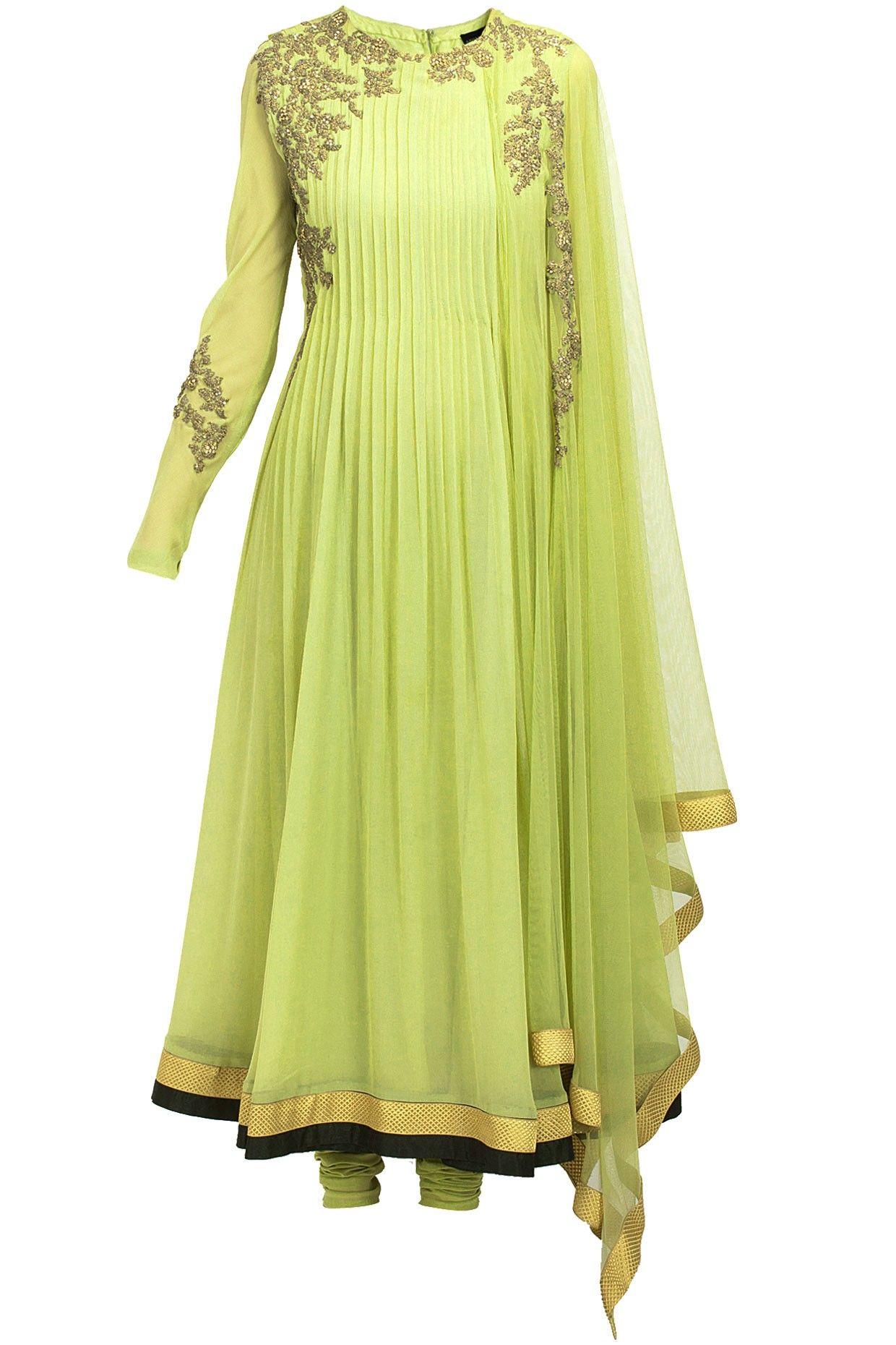 Ridhi mehra dress pinterest mint green anarkali and indian