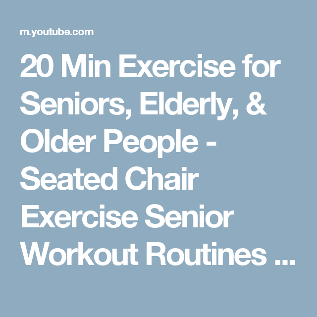 Senior workout routines