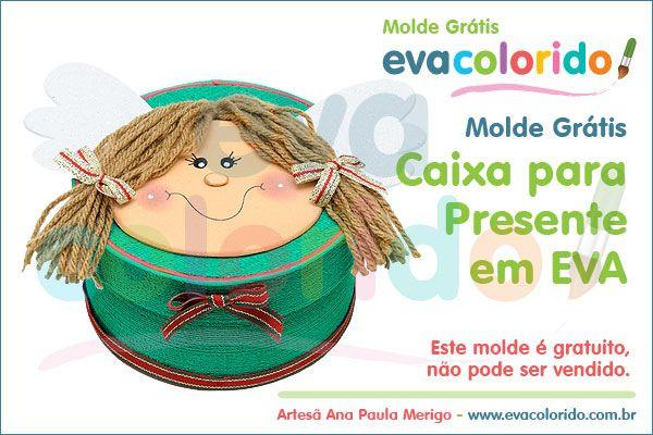 Molde Grátis – Caixa para Presente em EVA