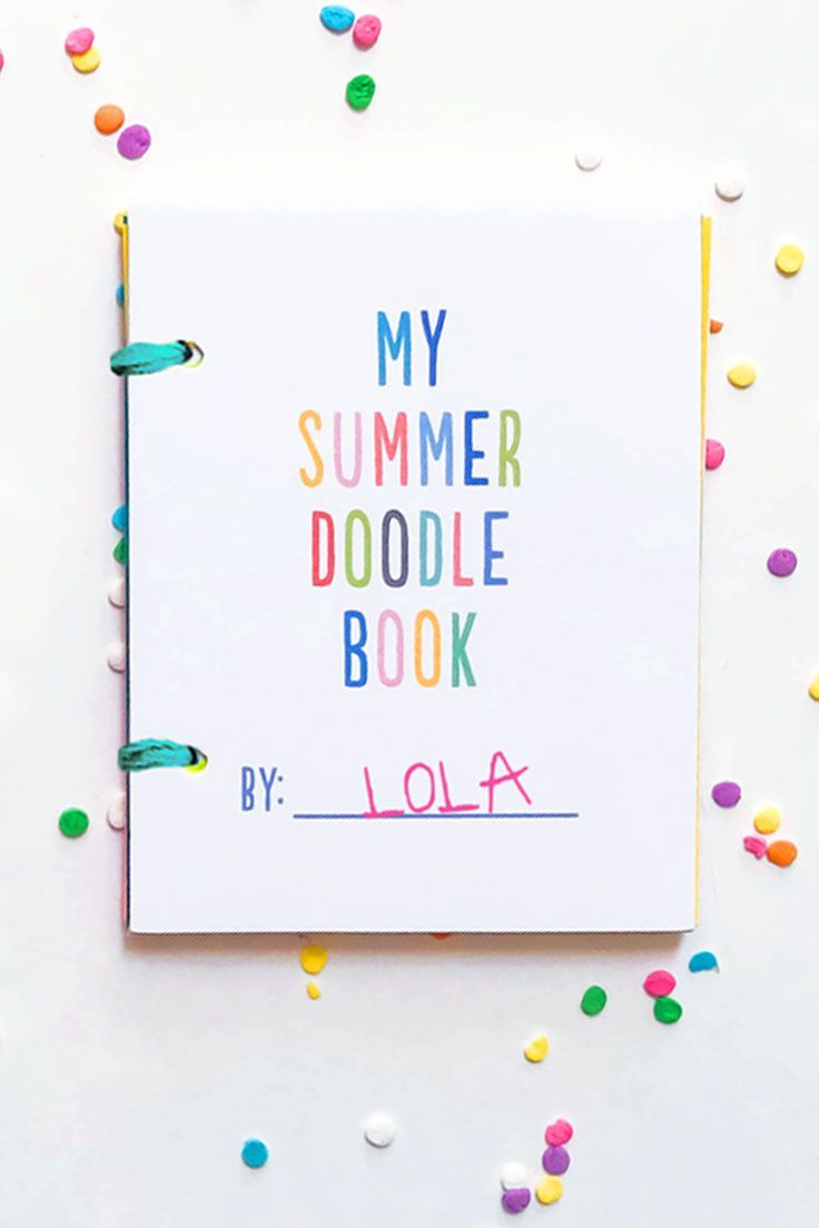 DIY Mini Summer Doodle Books With Free Printables Adorable Coloring Art Project And Gift Kids Can Make For Themselves Friends