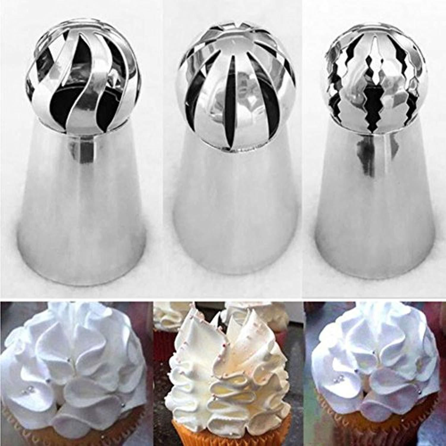 Sphere Ball Shaped Tip Nozzles Icing Piping Russian Nozzle 11 Style For Choose~