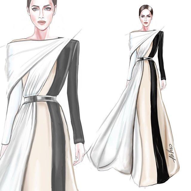 Givenchy . . . @givenchyofficial #fashionillustration# ...