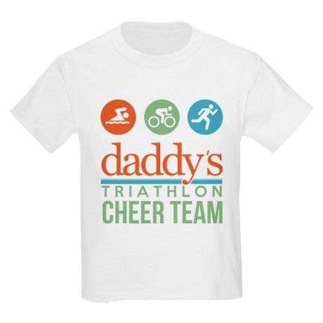 71f69820718 daddys triathlon cheer team T-Shirt on CafePress.com support triathlon dad