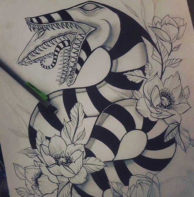 Pin By Makaylah Kaufman On Tattoos And Piercings Spooky Tattoos Beetlejuice Tattoo Creepy Tattoos
