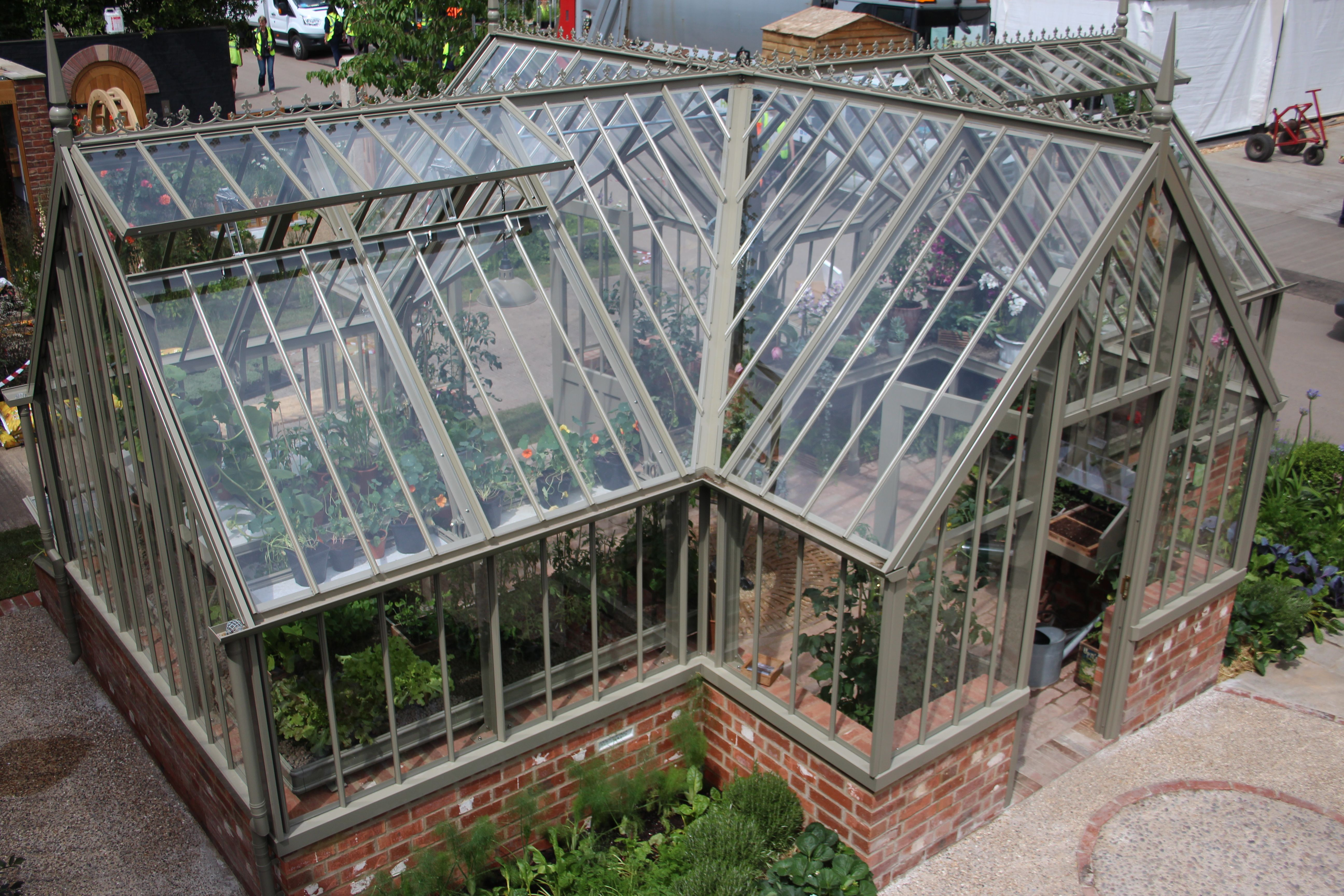 ickworth cruciform greenhouse from above | alitex | pinterest