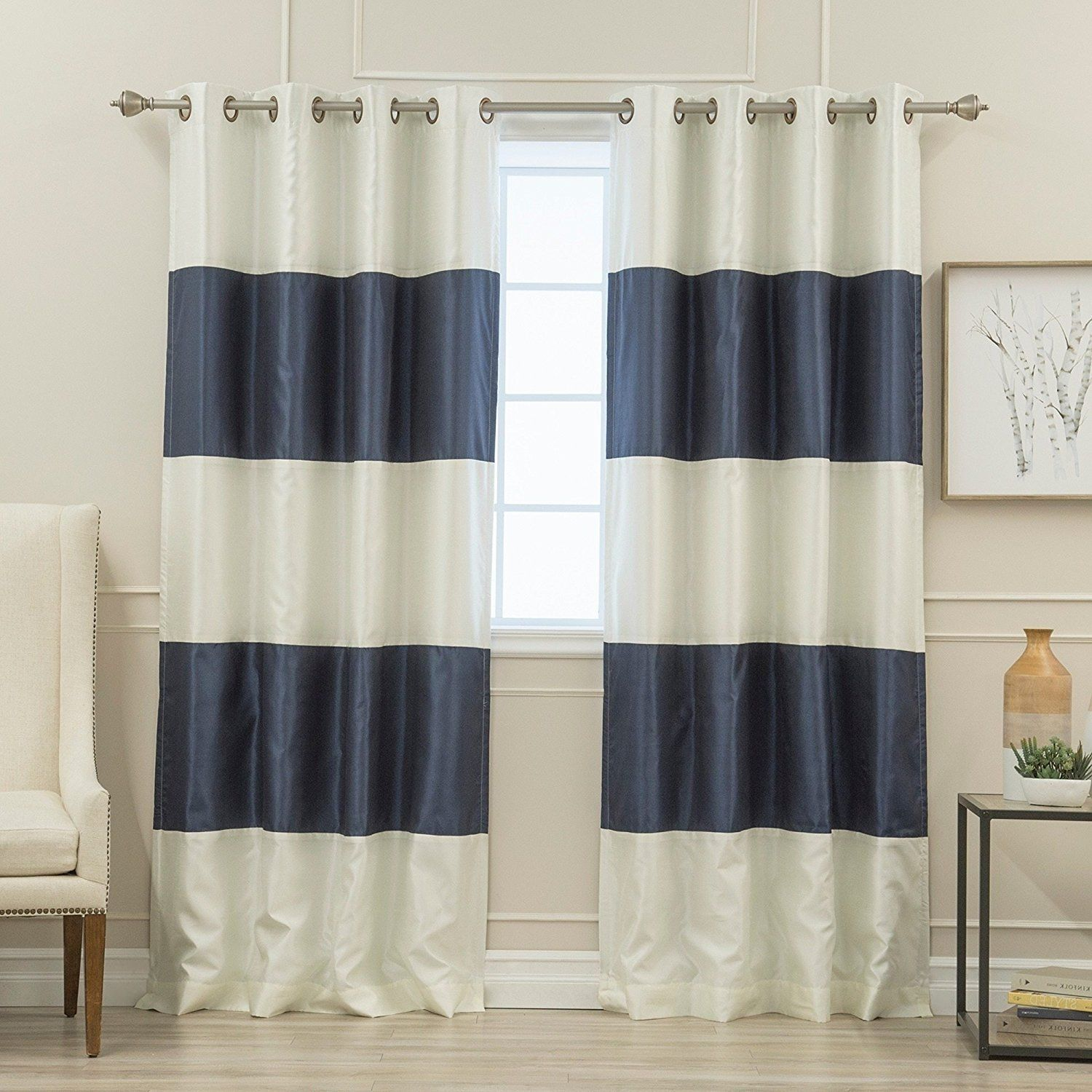 horizontal striped navy with blue curtainsfor zq interior curtain and white plus hilarious home curtains as frantic picturesque flossy wells decoration