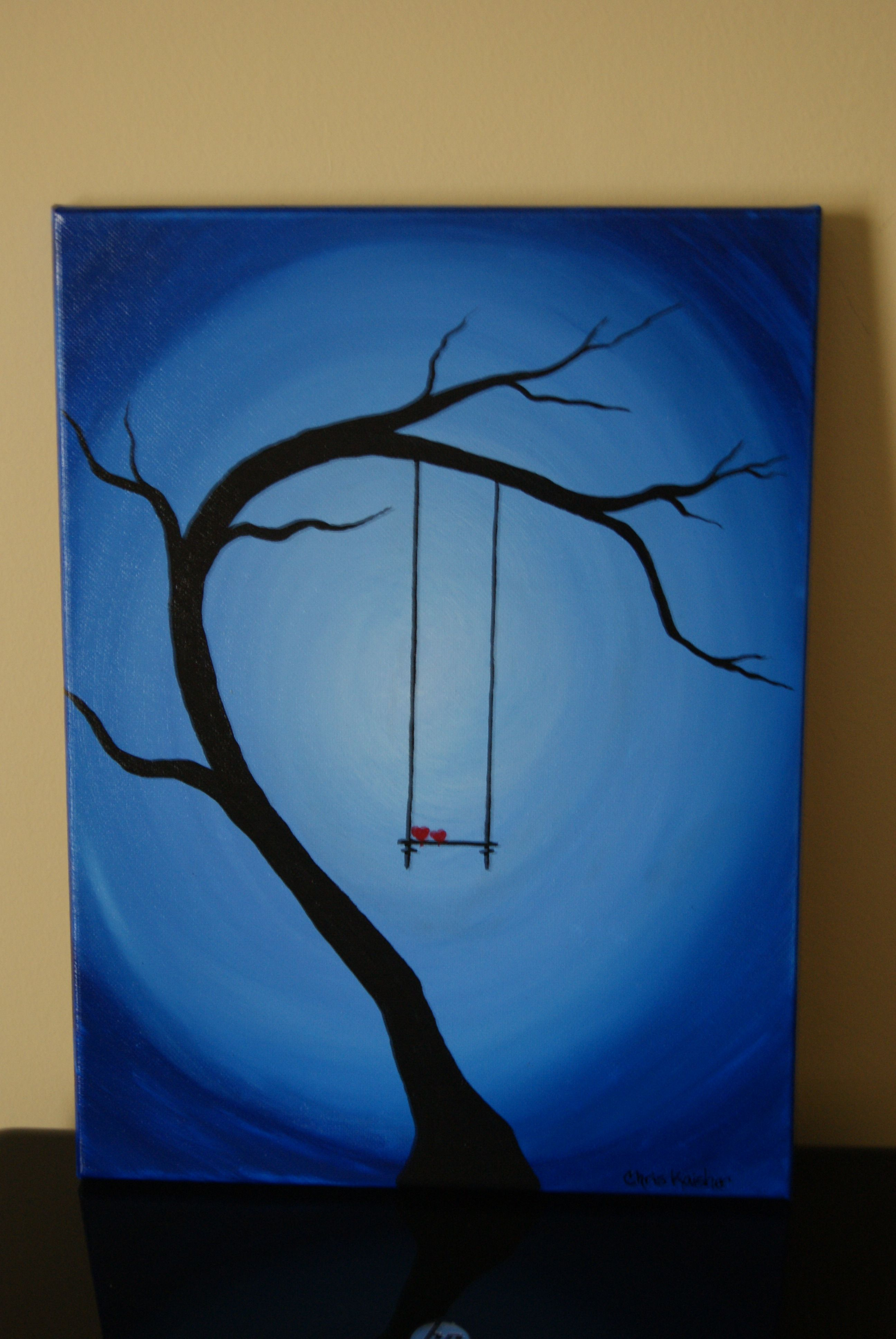 Efficient Artist Hand-painted Best Child Birthday Gift The Girl Playing Swing Oil Painting On Canvas Swing Girl Painting For Home Decor Home & Garden