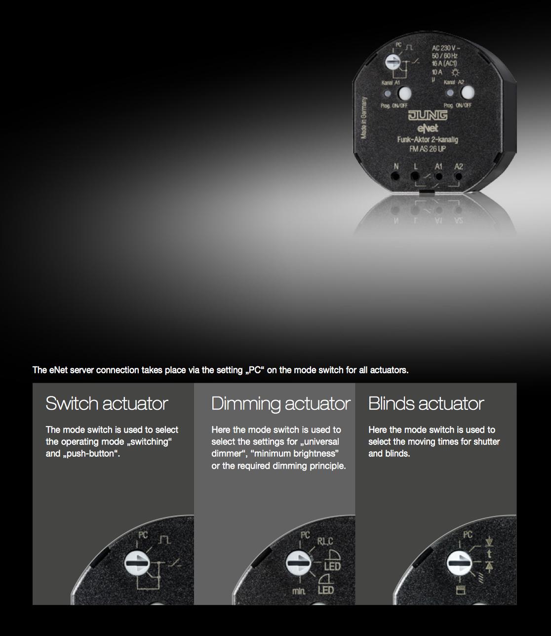 Funk Home Automation jung door communication intelligent building lighting
