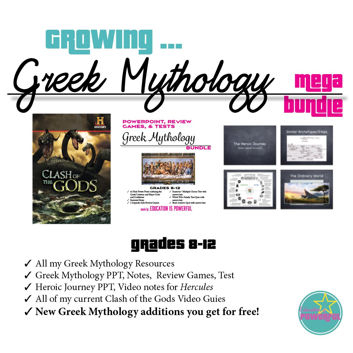 Growing Greek Mythology Mega Bundle