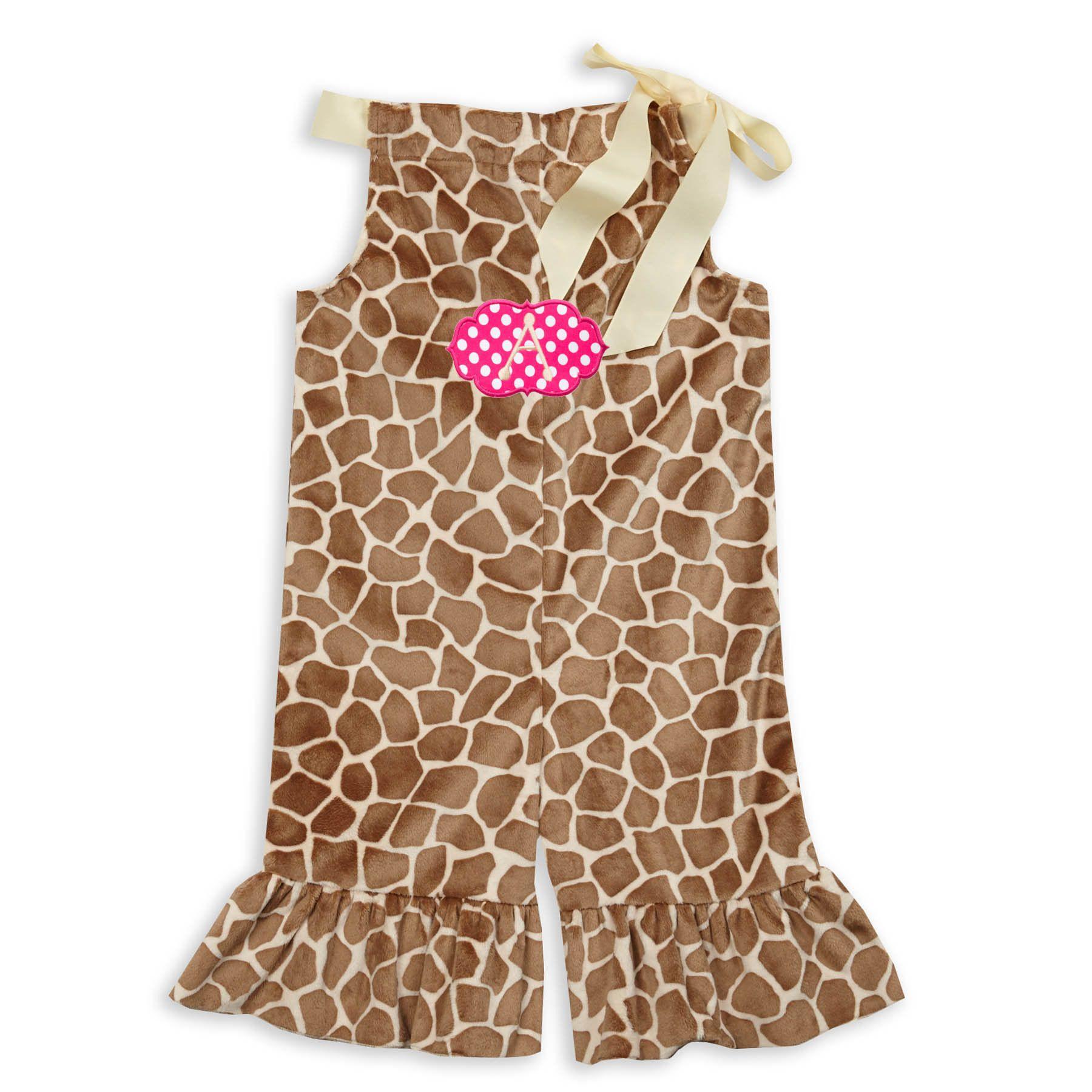 Giraffe Minky Tie Romper