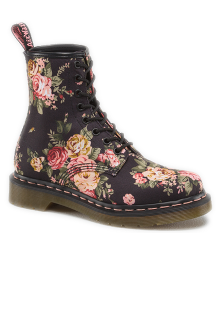 That s right  it s the return of grunge. Floral Doc Martens are back! 330ee7535a