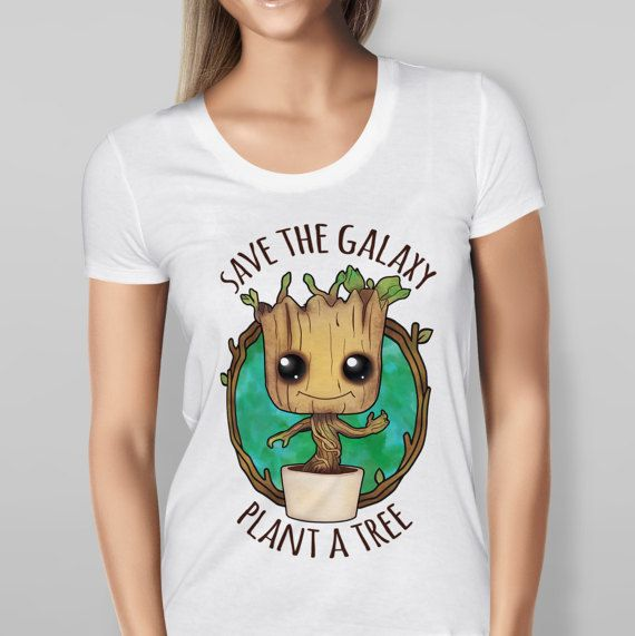 Guardians Of The Galaxy 2 T-Shirt Top Baby Groot Plant a Tree Men/Women  Free P&P available in the UK Sizes Mens Small - Sizes Ladies Small - .