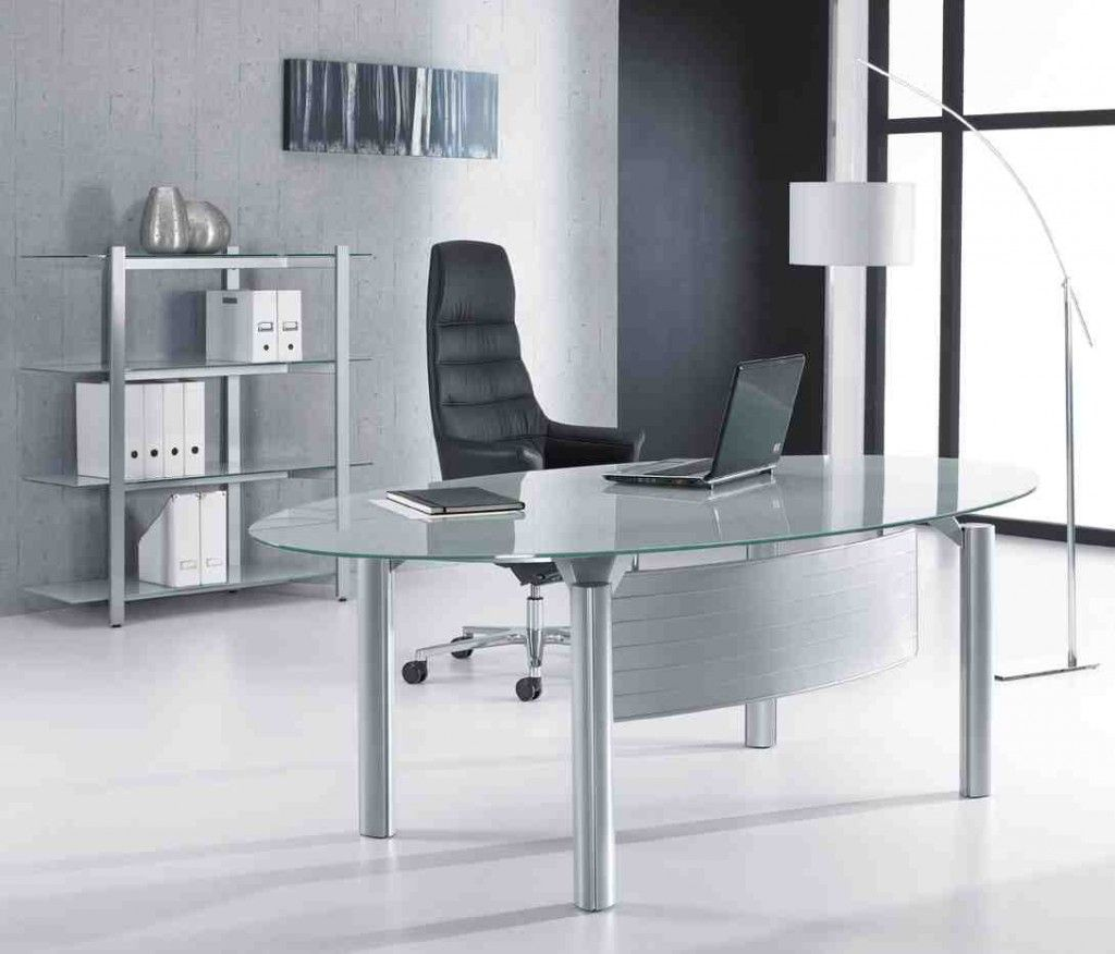 Glass Desk Table In 2019 Office Furniture Design Glass Desk