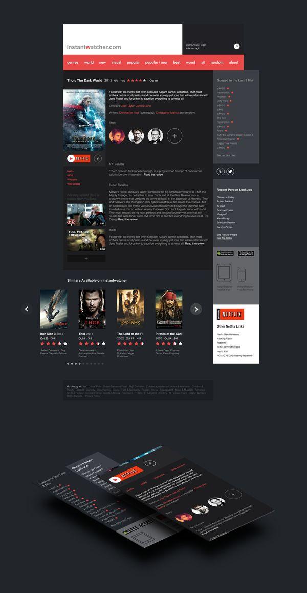 Iw Netflix Redesign On Web Design Served Web Design Redesign Website Design
