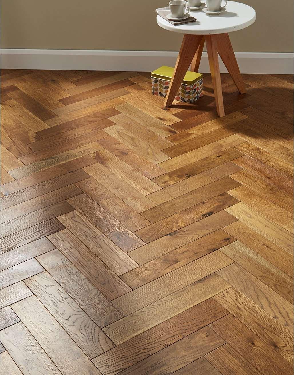 Oxford Herringbone Golden Smoked Oak Engineered Wood
