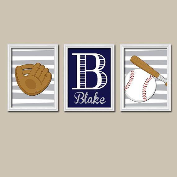 Baseball Wall Art Canvas Or Prints Baby Boy Baseball