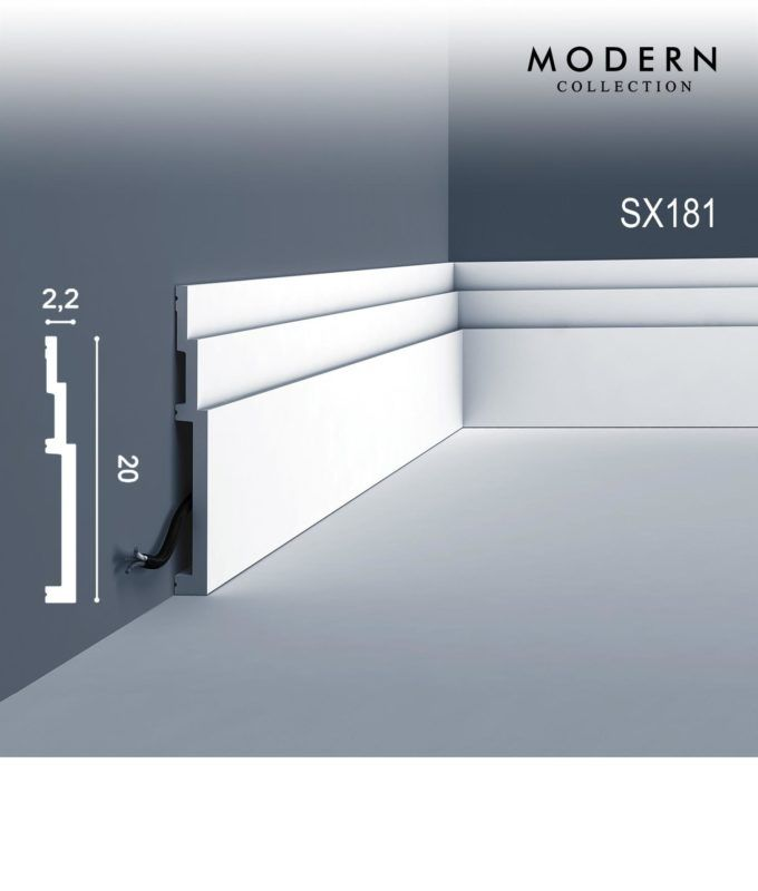 High Street Market Architectural Trim Wainscoting: Skirting ORAC DECOR MODERN SX181